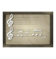 sheet music of paper music notes vector image