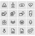 line download icon set vector image vector image