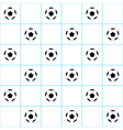 Football Ball Blue Grid White Background vector image