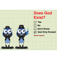 Market research does God exist vector image