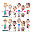 avatars with interchangeable heads and bodies vector image