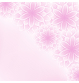 Beautiful lace floral pink background with flowers vector image