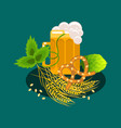 beer festival cartoon banner vector image