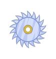 Circular saw blade icon cartoon style vector image