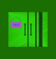 flat shading style icon wardrobe sale black friday vector image