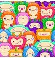 Funny bright seamless pattern vector image