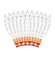 indian hat feathers icon vector image