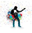 men play a guitar vector image