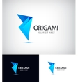 Origami fold paper link connect group abstract vector image