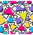 Seamless colorful abstract geometric pattern in vector image