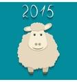 sheep - symbol of 2015 vector image