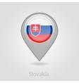 Slovakia flag pin map icon vector image