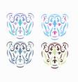 tribal polar bear vector image