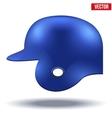 Blue baseball helmet vector image