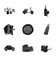 Italy country set icons in black style Big vector image