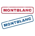 Montblanc Rubber Stamps vector image