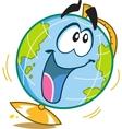 Happy Fun Globe vector image
