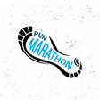 run icon running symbol marathon poster and logo vector image vector image