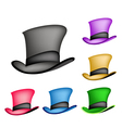 Colorful Victorian Style Top Hat vector image