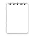 Vertical spiral notepad vector image