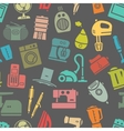 Dark seamless pattern of home appliances vector image