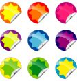 set of color labels vector image vector image