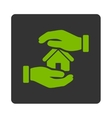 Realty insurance icon vector image