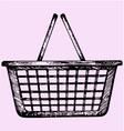 plastic shopping basket vector image