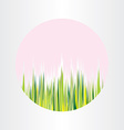 Spring nature grass circle abstract background vector image