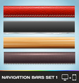 Navigation Bars For Web And Mobile Set1 Vector Image