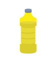 Bottle of oil sunflower on white background vector image