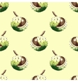 Chestnut walnut watercolor seamless pattern vector image