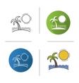 Island icons vector image