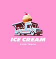 mobile food truck car with ice cream vector image