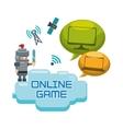 online games character concept bubble speech vector image