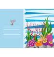 Paper design with coral reef vector image