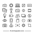 photography icons collection vector image