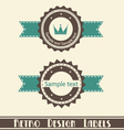 retro design labels vector image