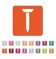 The nail icon Nobnail symbol Flat vector image