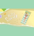 woman lying on summer beach vacation seaside sand vector image