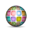 Sphere with media icons vector image vector image
