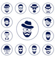 set of different men hipster vector image
