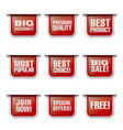advertising discount banners and stickers vector image vector image