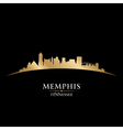 Memphis Tennessee city skyline silhouette vector image vector image