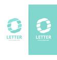 unique letter o logo design template vector image