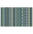 Ethnic various strips motifs in green and olive vector image