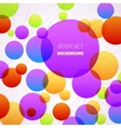 Abstract colorful circles background vector image