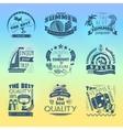Summer holiday vacation labels set vector image