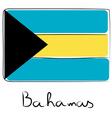 Bahamas flag doodle vector image vector image