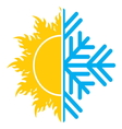 summer winter air conditioning icon1 vector image